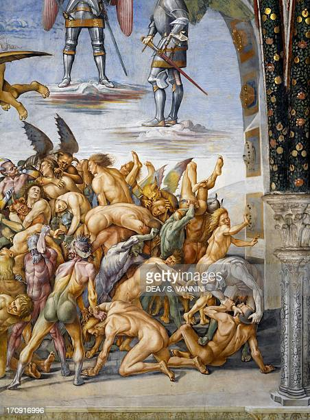 The damned in hell from the Last Judgment fresco cycle 14991504 by Luca Signorelli San Brizio Chapel right transept of Orvieto Cathedral Orvieto...