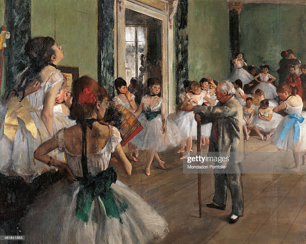 The dance class, by Edgar Degas, 1873, 19th Century, oil on canvas : News Photo