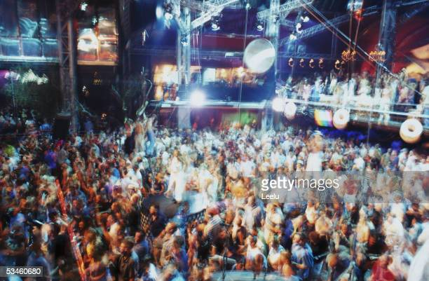 The dance floor at Manumission Privilege Ibiza 2002