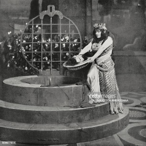 The dance of the seven veils, scene from Salome, by Richard Strauss , performance at the Metropolitan Opera House in New York in January 1907, United...