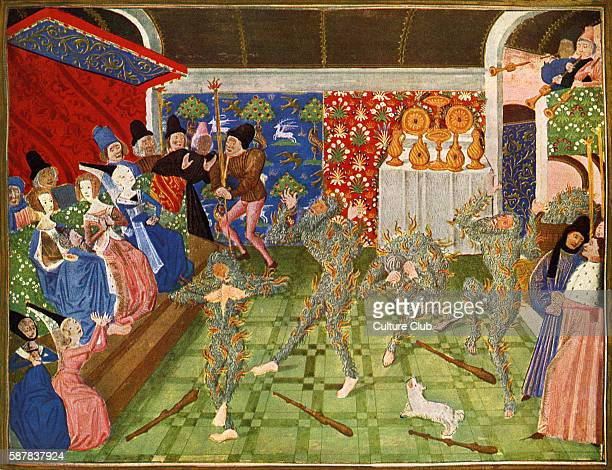 The Dance of the Wodehouses forest dwelling wildmen whose bodies were covered completely with hair in English mythology 1393 From Froissarts...