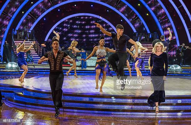The dance off of Strictly Come Dancing 2015 attends a photocall to launch the Strictly Come Dancing Live Tour 2015 at Birmingham Barclaycard Arena on...