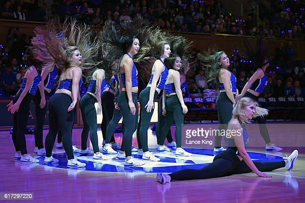 The dance team of the Duke Blue Devils performs during Countdown To Craziness at Cameron Indoor Stadium on October 22 2016 in Durham North Carolina