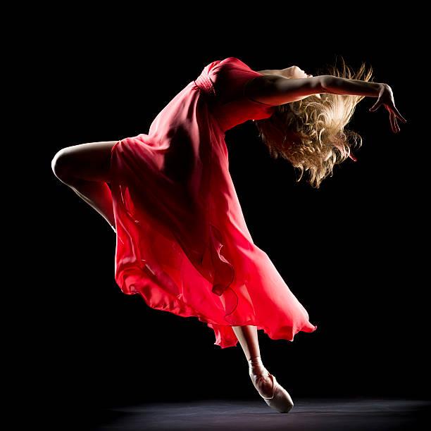 The Dancer on black background