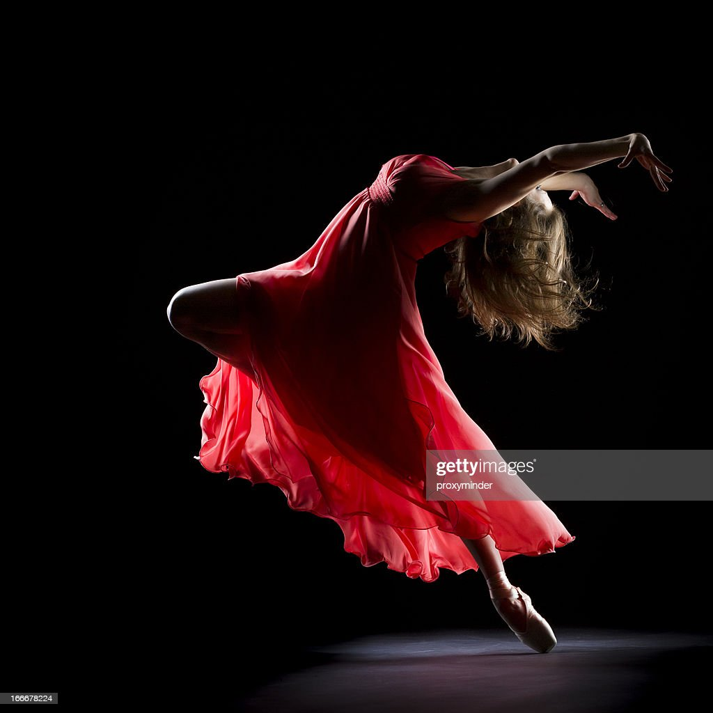 The Dancer on black background : Stock Photo