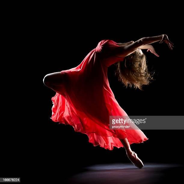 The Dancer on black background