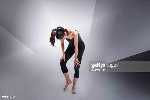 The Dancer on Grey background