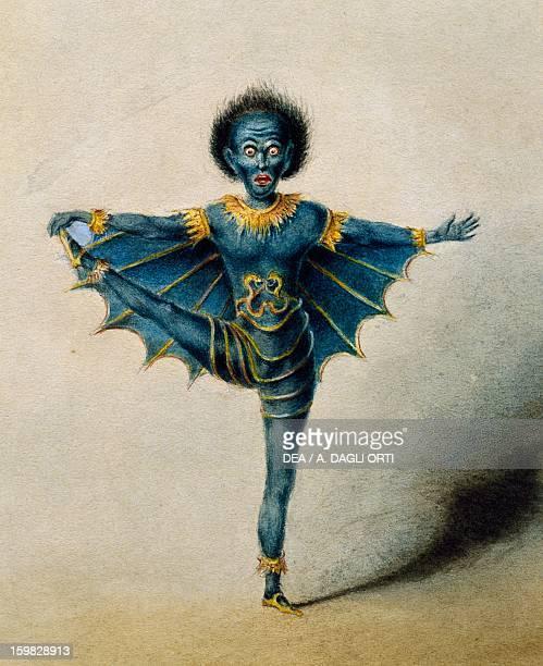 The dancer Seymours in the ballet Lucifer 1843 Watercolour print 19th century Vienna Historisches Museum Der Stadt Wien