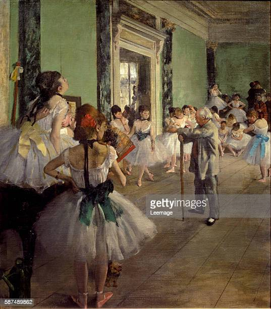 The Dancing Class by Edgar Degas 85x75 cms Musee d'Orsay Paris France
