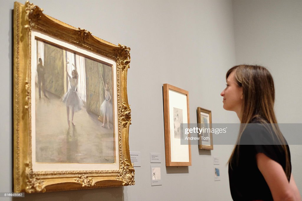'The Dancing Lesson' by Edgar Degas is seen on display during the 'Edgar Degas: A Strange New Beauty' exhibition press preview at Museum of Modern Art on March 22, 2016 in New York City. Ê