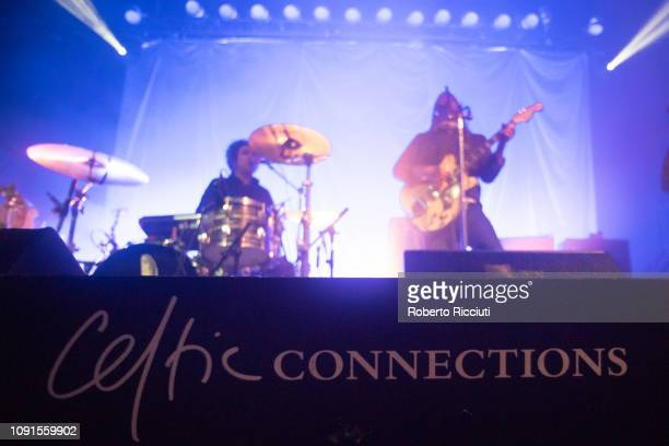 The Dandy Warhols performs on stage at Glasgow's Old Fruitmarket during Celtic Connections on January 30 2019 in Glasgow Scotland