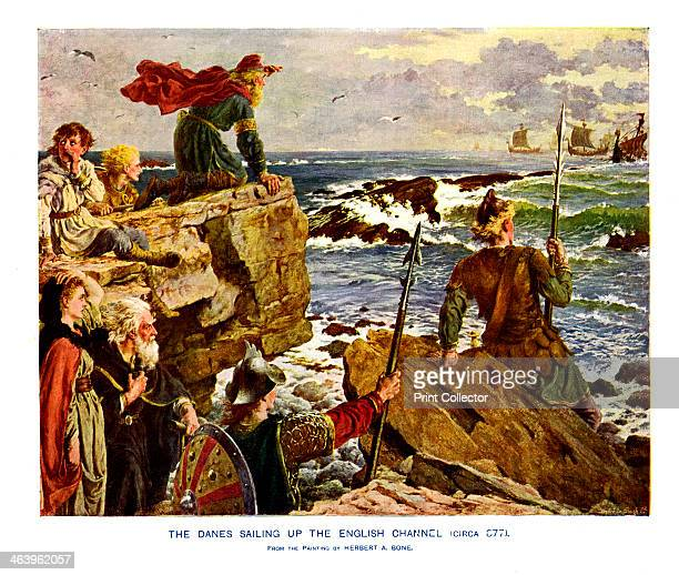 The Danes Sailing up the English Channel c877 AD