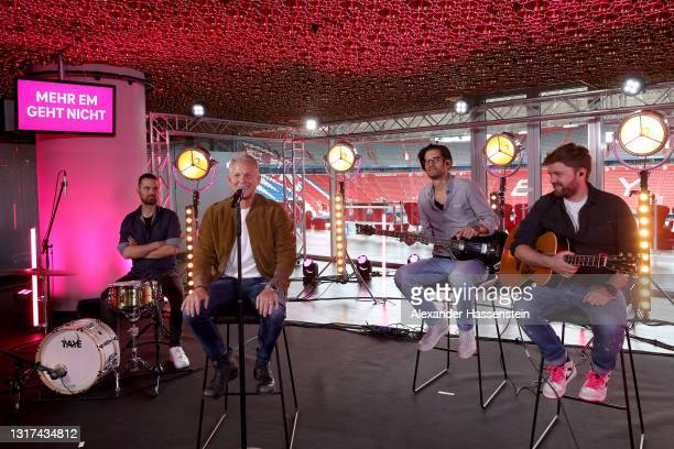 The Daniel Hall Band is seen on stage during the the Magenta TV EURO 2020 Media Day at Allianz Arena on May 11, 2021 in Munich, Germany.