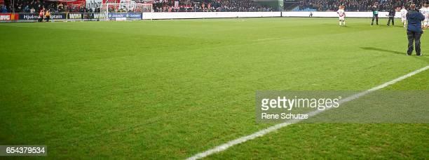 the Danish Alka Superliga match between AaB Aalborg and FC Midtjylland at Aalborg Portland Park on March 13 2017 in Aalborg Denmark