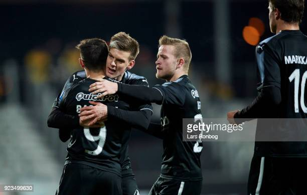 the Danish Alka Superliga match between AC Horsens and Randers FC at CASA Arena Horsens on February 23 2018 in Horsens Denmark