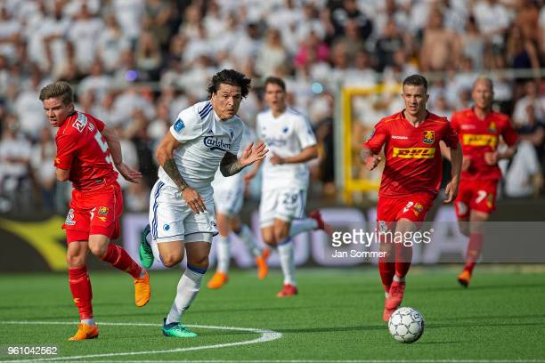 the Danish Alka Superliga match between FC Nordsjalland and FC Copenhagen at Right to Dream Park on May 21 2018 in Farum Denmark Federico Santander...