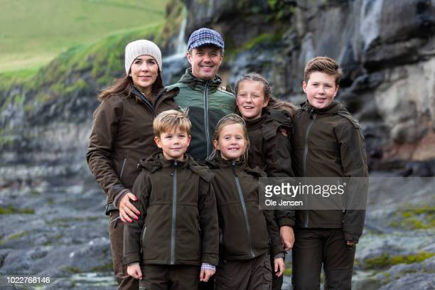 The Danish Crown Prince family during their visit to the village of Mikladalur near Klaksvig where they are to see the statue at the sea of Kopakonan...