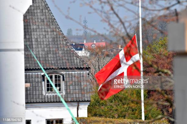 The Danish flag is at half mast at Hojvangskolen the School attended by Danish billionaire and owner of fashion business Bestseller Anders Holch...