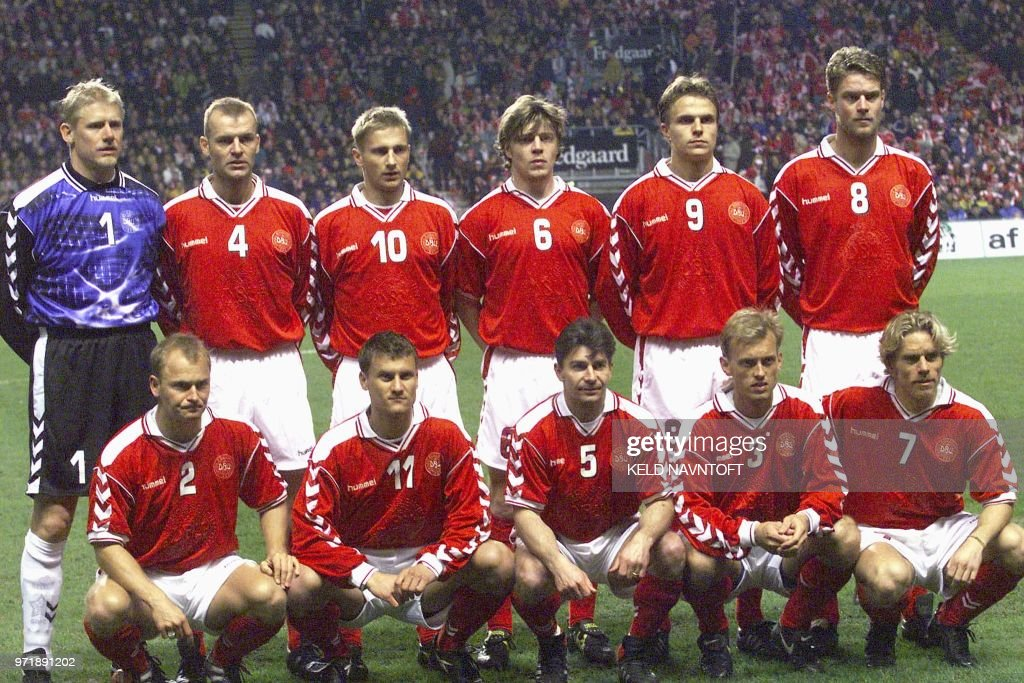 the latest 78a83 3b8c3 The Danish national soccer team lines up in Copenhagen 27 ...
