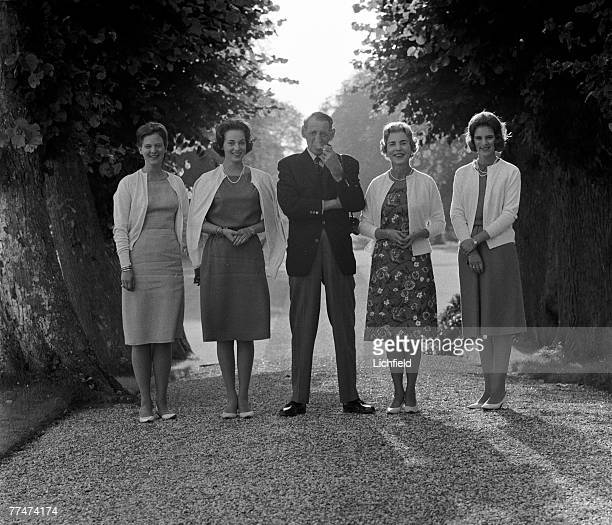 The Danish Royal Family at home in the gardens of Fredensborg Palace on 24th August 1964 HRH Princess Margarethe HRH Princess Benedicte HM King...