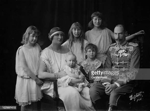 Princess AlexandrineLouise of Denmark Princess Helena Adelaide of Denmark holding infant Prince Oluf of Denmark Princess CarolineMathilde of Denmark...