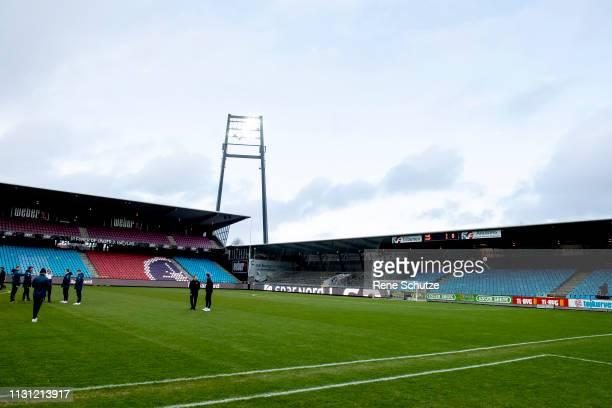 The Danish Superliga match between AaB Aalborg and AGF Aarhus at Aalborg Portland Park on March 17, 2019 in Aalborg, Denmark.
