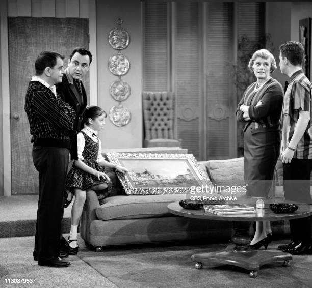 The Danny Thomas Show a CBS television situation comedy Episode Jose's Guided Tour originally broadcast February 25 1963 Pictured from left is Sid...