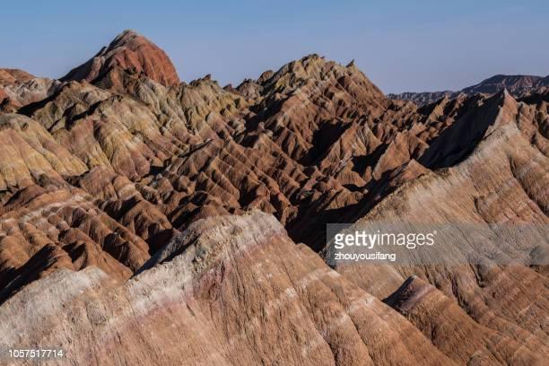 the danxia landform of zhangye' gansu - ジオパーク ストックフォトと画像