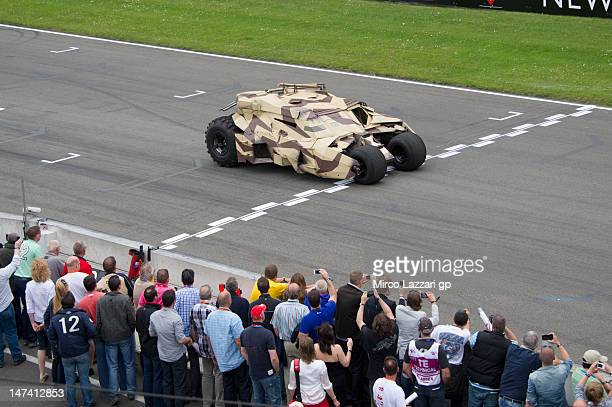 The Dark Knight Rises drives on grid before the qualifying practice of the MotoGp Of Holland at TT Circuit Assen on June 29 2012 in Assen Netherlands