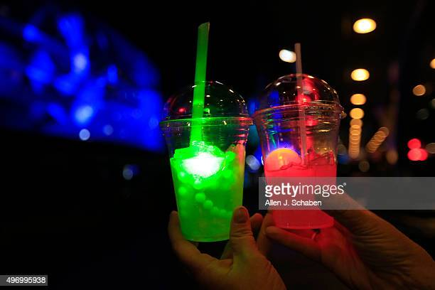 ANAHEIM CALIF THURSDAY NOVEMBER 12 2015 The Dark Side drink on right contains Odwalla lemonade flavored with strawberry and includes a souvenir...