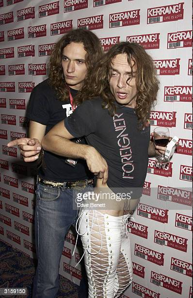 The Darkness attend the 2003 Kerrang Music Awards at The Royal Lancaster Hotel on August 22 2003 in London