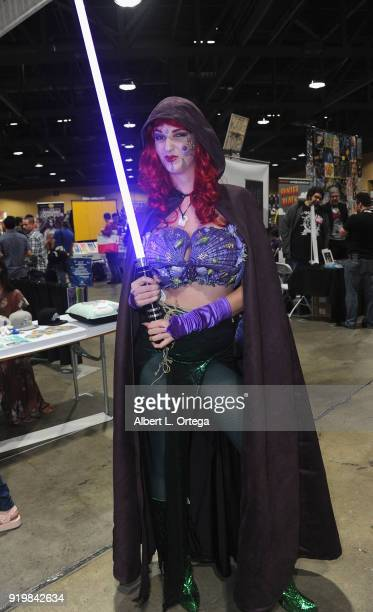 The Darkside Dame attends day 1 of the 8th Annual Long Beach Comic Expo held at Long Beach Convention Center on February 17 2018 in Long Beach...