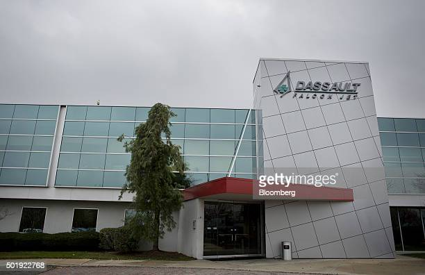 The Dassault Aviation SA Falcon Jet parts distribution center stands at Teterboro Airport in Teterboro New Jersey US on Monday Dec 13 2015...