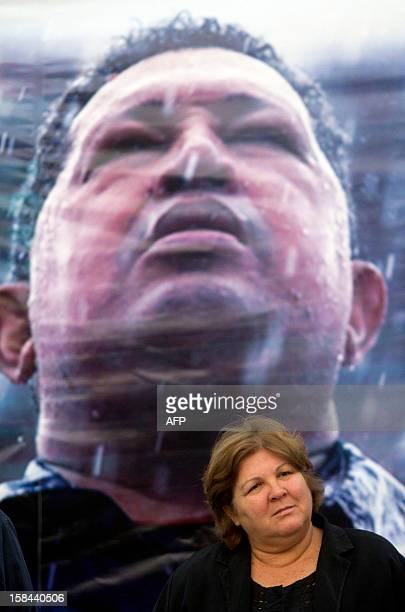 The daughter of Argentineborn Cuban revolutionary leader Ernesto Che Guevara Aleida Guevara March takes part in a demonstration in support of...