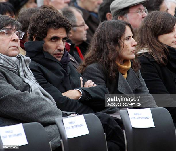 The daughter of former French president François Mitterrand and his mistress Anne Pingeot Mazarine Pingeot and her husband Mohamed UladMohand attend...