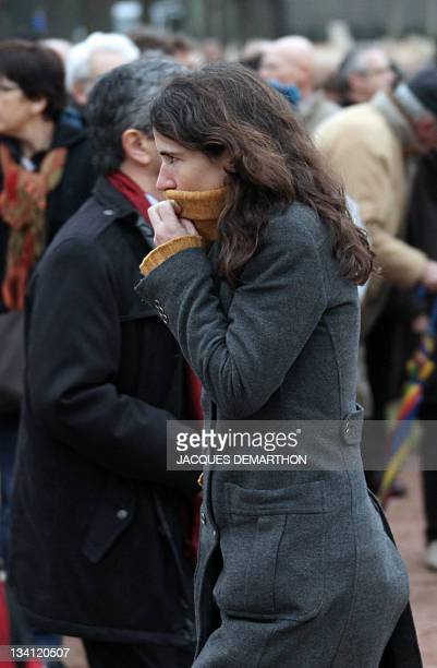 The daughter of former French president François Mitterrand and his mistress Anne Pingeot Mazarine Pingeot leaves the funeral of France's former...