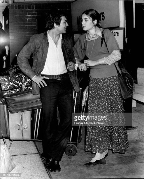 The daughter of the late Tyron Power Romina Power and her husband pop idol and film star Albano flew into Sydney unexpectedly today March 8 1972