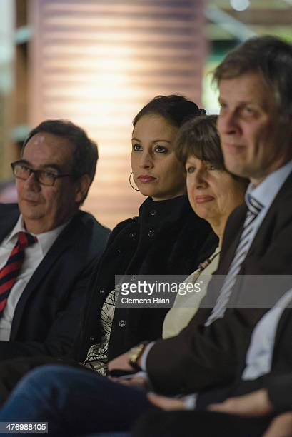 The daughter of Wolfgang Bosbach Caroline and Deputy Government Spokesman Georg Streiter attend the book presentation of 'Ein Leben fuer die Politik'...