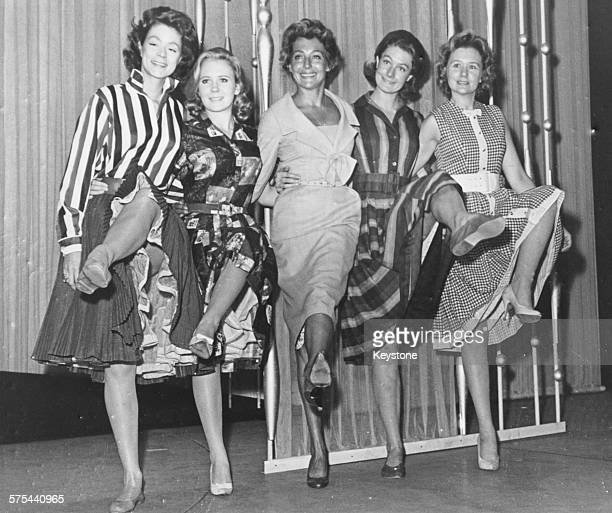 The daughters of famous actors Jill Melford Jack Melford Juliet Mills Faith Brook Vanessa Redgrave and Patricia Raine rehearsing a number together...