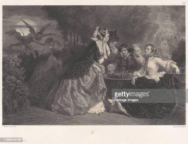 The Daughters of the Devil , ca. 1848-62. [Les Filles du Diable ]. Artist C�lestin Nanteuil.