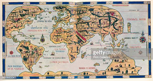 The Dauphin Map of the World 1546 After Pierre Desceliers 'Planisphere' which is sometimes refered to as the 'Dauphin Map' The map was created for...