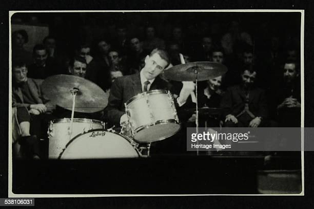 The Dave Brubeck Quartet in concert at Colston Hall Bristol 1958 Joe Morello Artist Denis Williams