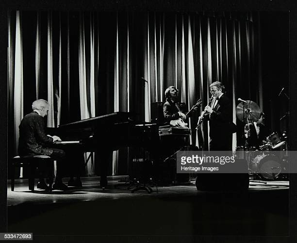 The Dave Brubeck Quartet in concert at the Forum Theatre Hatfield Hertfordshire 10 April 1983 Dave Brubeck Chris Brubeck Bill Smith Randy Jones