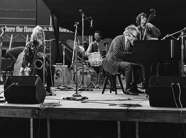 The Dave Brubeck Quartet (U.S. jazz saxophonist Gerry...