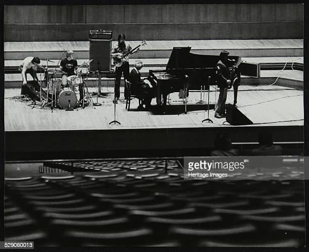 The Dave Brubeck Quartet rehearsing on stage at the Royal Festival Hall, London, 10 November 1979: Dave Brubeck , Jerry Bergonzi Chris Brubeck ,...