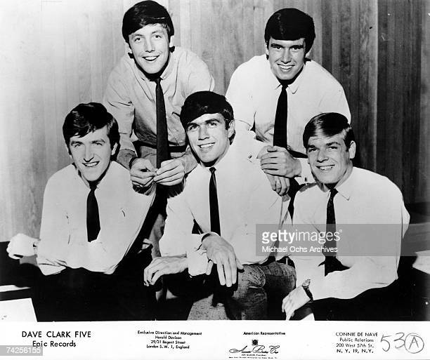 The Dave Clark Five pose for a portrait in circa 1963 Rick Huxley Mike Smith Dave Clark Denis 'Denny' Payton Lenny Davidson