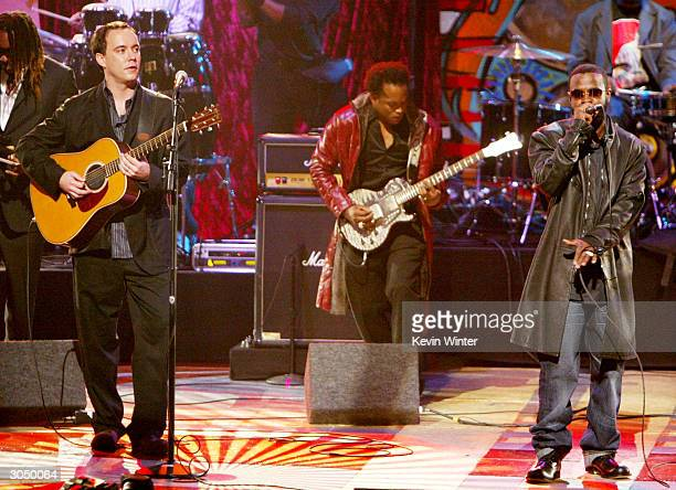 The Dave Matthews Band performs on stage at the 35th Annual NAACP Image Awards at the Universal Amphitheatre March 6 2004 in Hollywood California