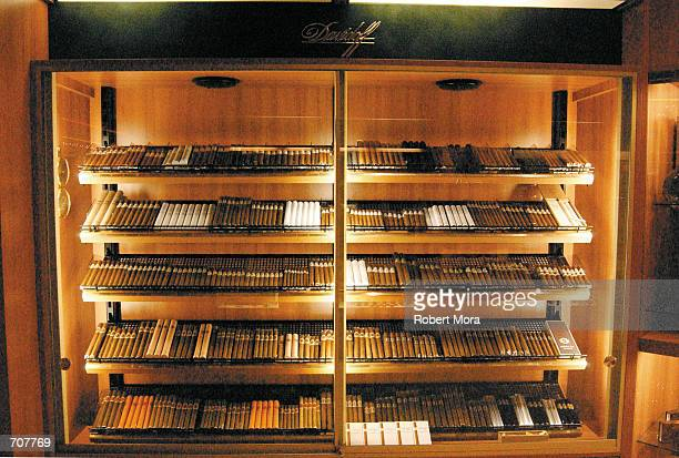 The Davidoff Cigar Shop humidor at the MGM Grand Hotel and Casino is seen on display on May 30, 2002 in Las Vegas, Nevada.