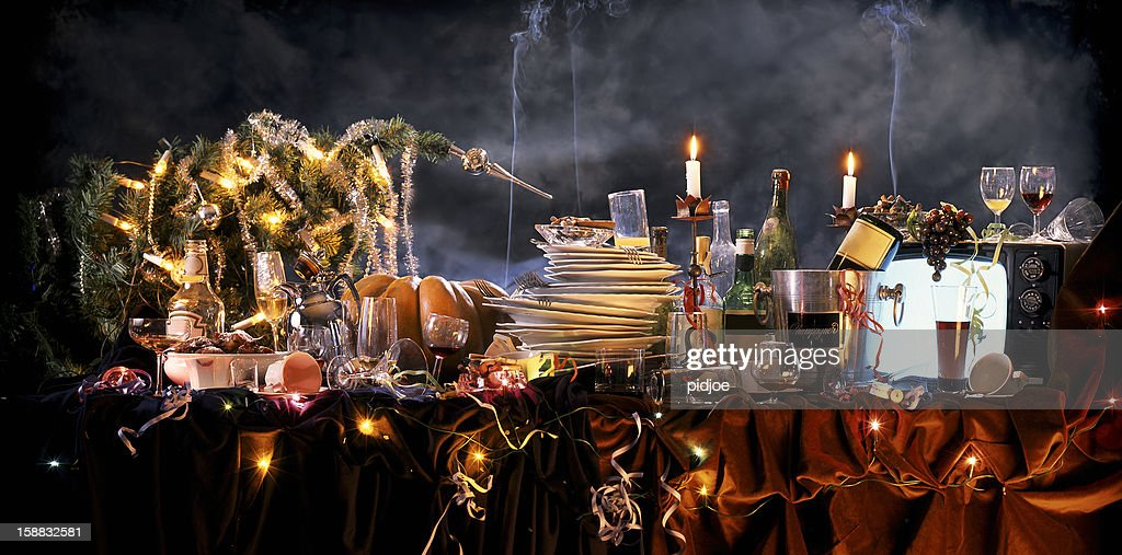 the day after Christmas party : Stock Photo