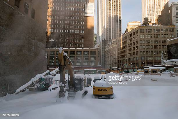 the day after the historic blizzard the construction site of Richard Branson's new Virgin Hotel lies buried in snow This will be a one of a kind 300...